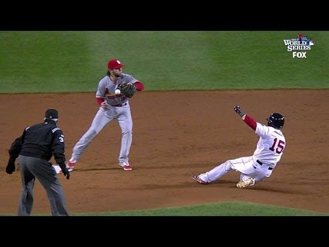 ws2013-gm1:-pedroia-ruled-safe-after-initial-out-call