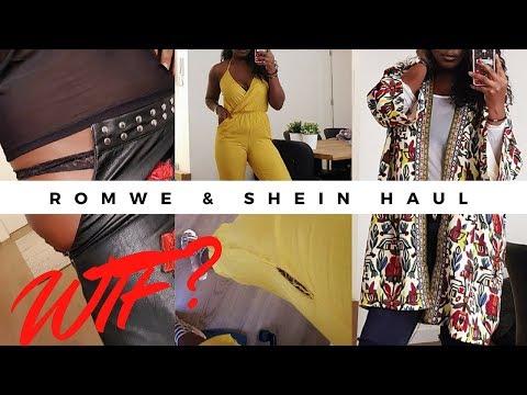 ROMWE & SHEIN HAUL  - HONEST REVIEW