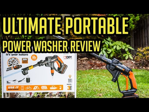 Ultimate Portable Power Washer 2018 - WORX HYDROSHOT Review