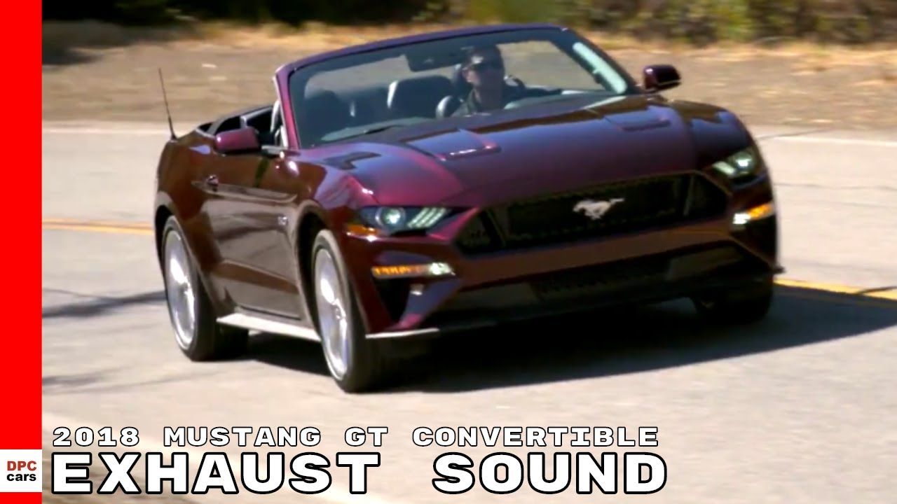 2018 ford mustang gt 5 0 convertible test drive exhaust sound