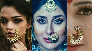 Indian Nose Ring | Nose Hoop | Nath Design's For Brides