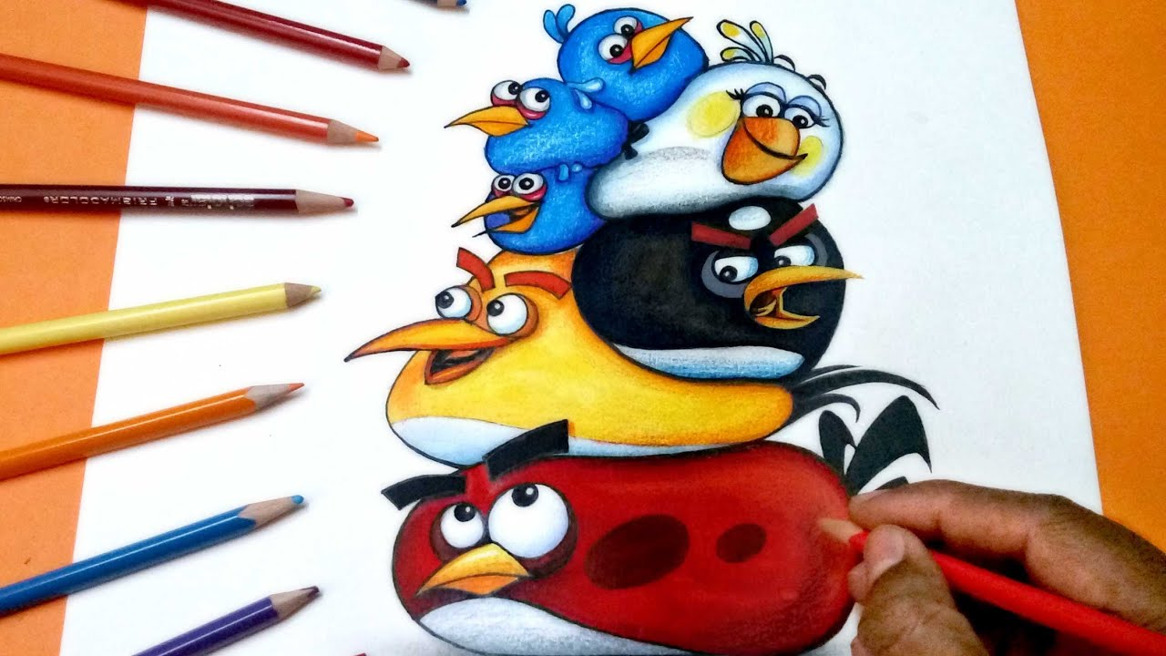 How To Draw Angry Birds Group