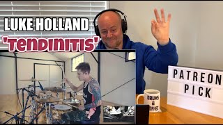 Drum Teacher Reacts: LUKE HOLLAND - Jason Richardson - 'Tendinitis' Drum Playthrough | (2020)