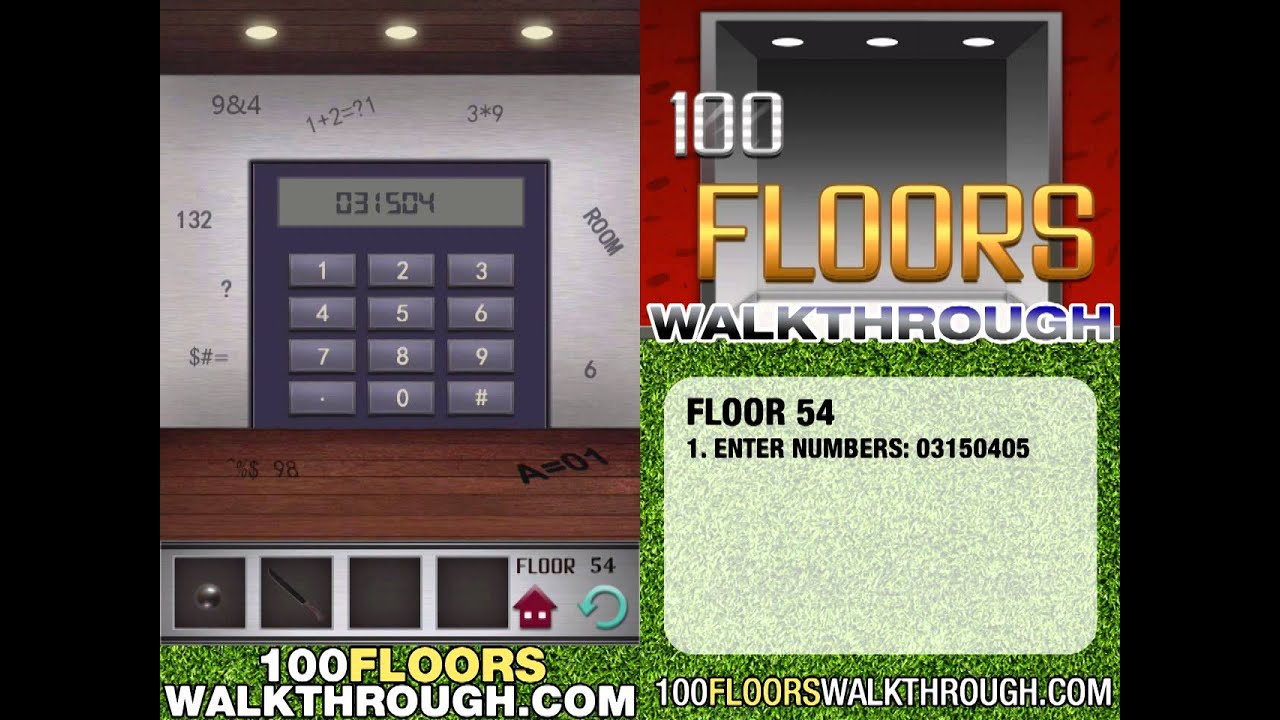 Floor 54 Walkthrough 100 Floors Walkthrough Floor 54