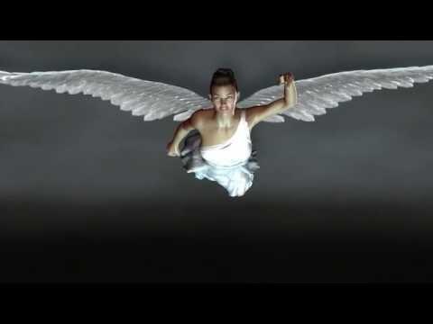 3D Virtual Angel flying - by GravityDesignStudios.com using NVidia Video