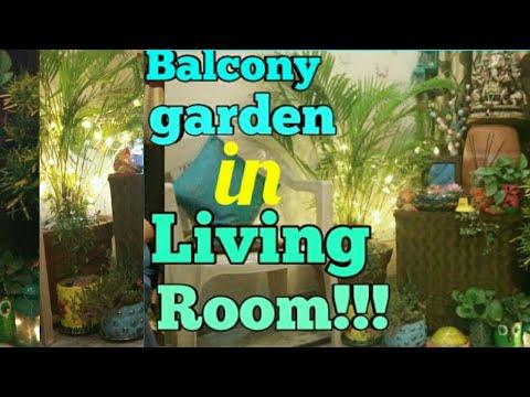 Balcony garden in living room,how to create Balcony in small space,Balcony corner in room