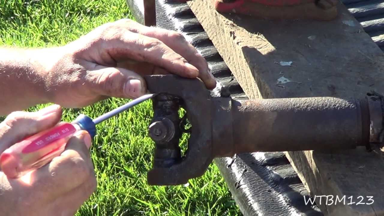 Broken Bolt Removal >> Changing a U Joint, or Universal Joint, in a Drive Shaft - YouTube