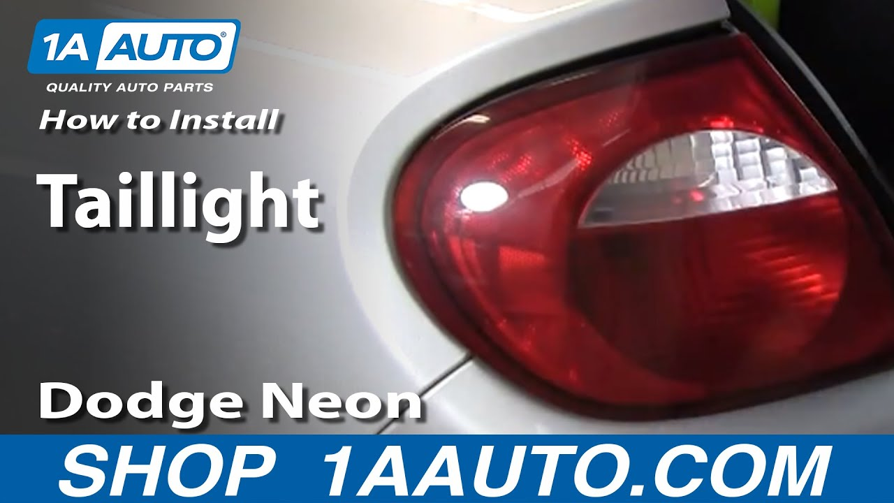 How To Install Replace Taillight Dodge Plymouth Neon 00 05 1aauto 2000 Headlight Wiring Diagram 1aautocom Youtube