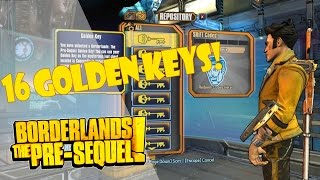 16 GOLDEN KEYS! | Borderlands: The Pre Sequel!