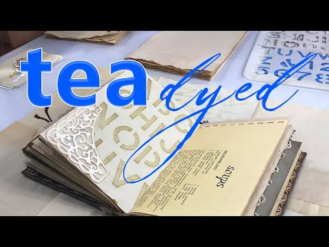 Tea dyed paper - how i alphabet stencil my papers