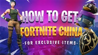 How to Download Fortnite CHINA and Get EXCLUSIVE ITEMS!
