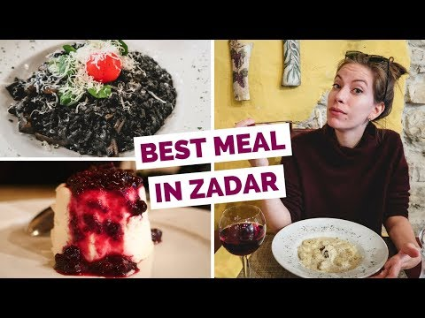 Croatian Food - Delicious Meal in Zadar, Croatia