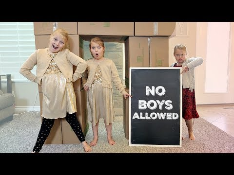 NO BOYS ALLOWED! All GIRLS ONLY Fort Videos in One