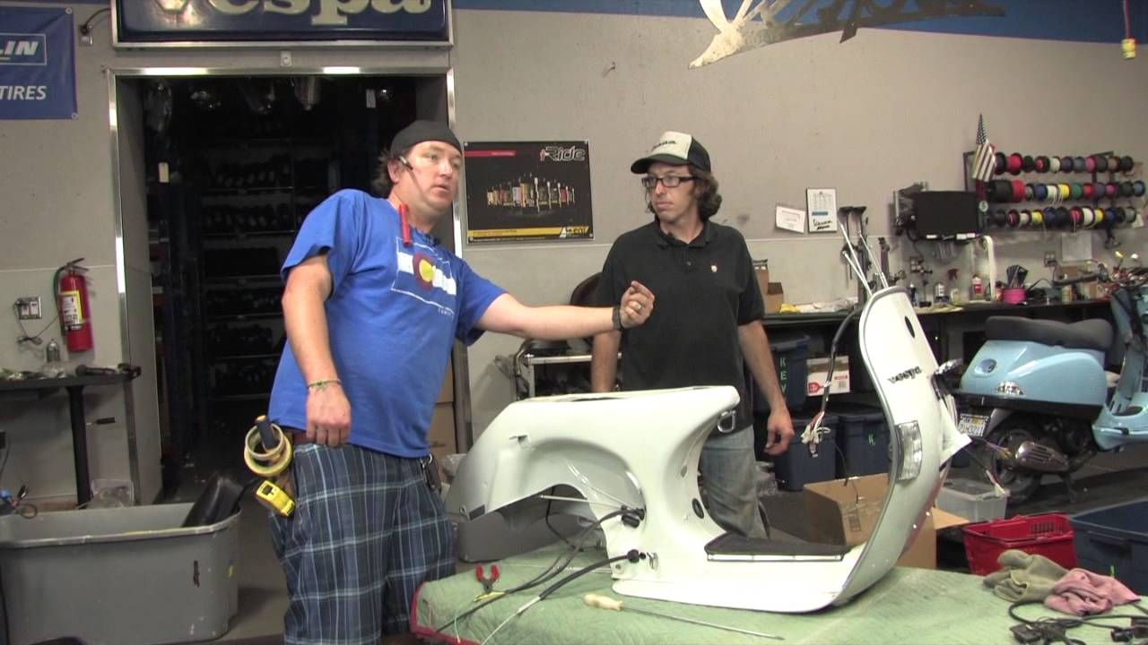 hight resolution of vespa p200 restoration part 2 cables wiring frame component installation