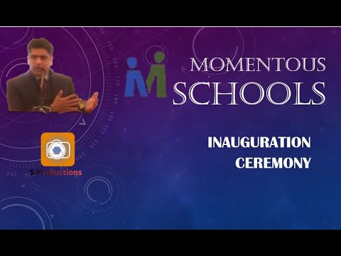 Syed Burhan Ali Speech | Momentous Schools inauguration |Syed Productions