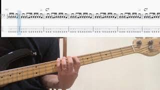 Hush - Deep Purple Bass Cover 연주 & Backing Track (bass tab)