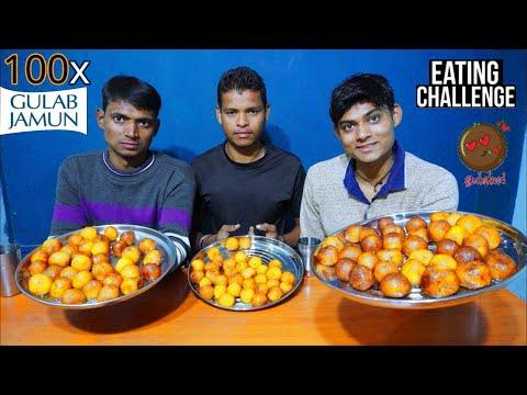 100x Gulab Jamun Eating Challenge | Gulab Jamun Eating Competition | Food Challenge