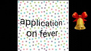 How to write application on fever thumbnail