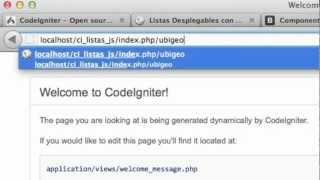 Listas Desplegables con CodeIgniter, jQuery y Javascript - Parte 1