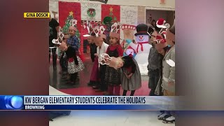KW Bergan Elementary School in Browning celebrates the holidays