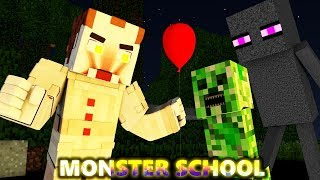 MONSTER SCHOOL: PENNYWISE HALLOWEEN CHALLENGE Ft. Steve & Alex (official) Minecraft Animation