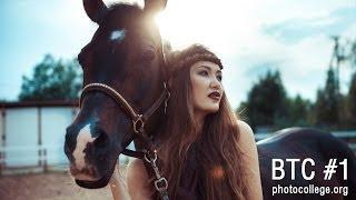 Съемка с лошадьми / Уличная фотосессия с моделью от рекламного фотографа Александра Крофт