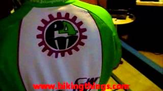 amazing pedal for the medal special olympics bike jersey shirt in bright green color.wmv