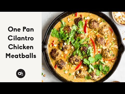 Thai Poultry Meatballs With Spicy Cilantro Dip