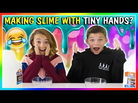 TINY HANDS SLIME MAKING CHALLENGE | We Are The Davises