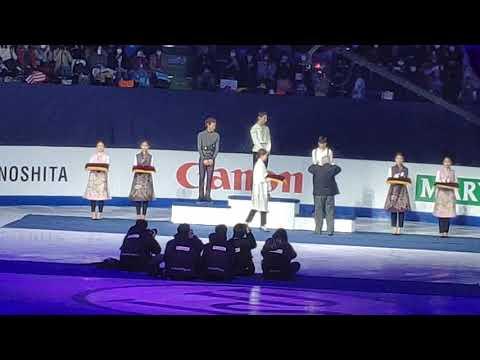 4CC Men medal ceremony 09.02.20 Yuzuru Hanyu fancam