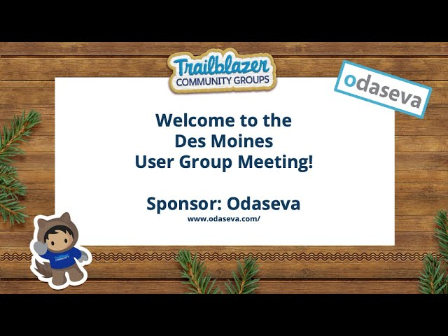 Odaseva Data Protection Presentation at the Des Moines Salesforce User Group Meeting