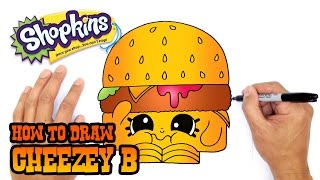How to Draw Cheezey B | Shopkins (Step by Step Drawing Tutorial)