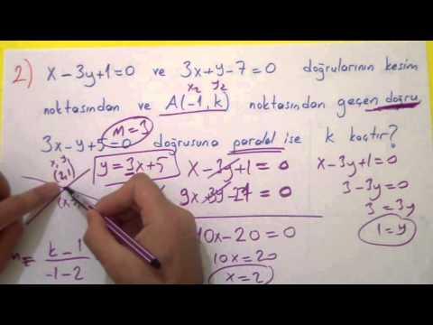Analitik Geometri Soru Çözümü Şenol Hoca Matematik