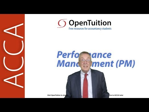ACCA Performance Management (PM) Lectures - watch on line