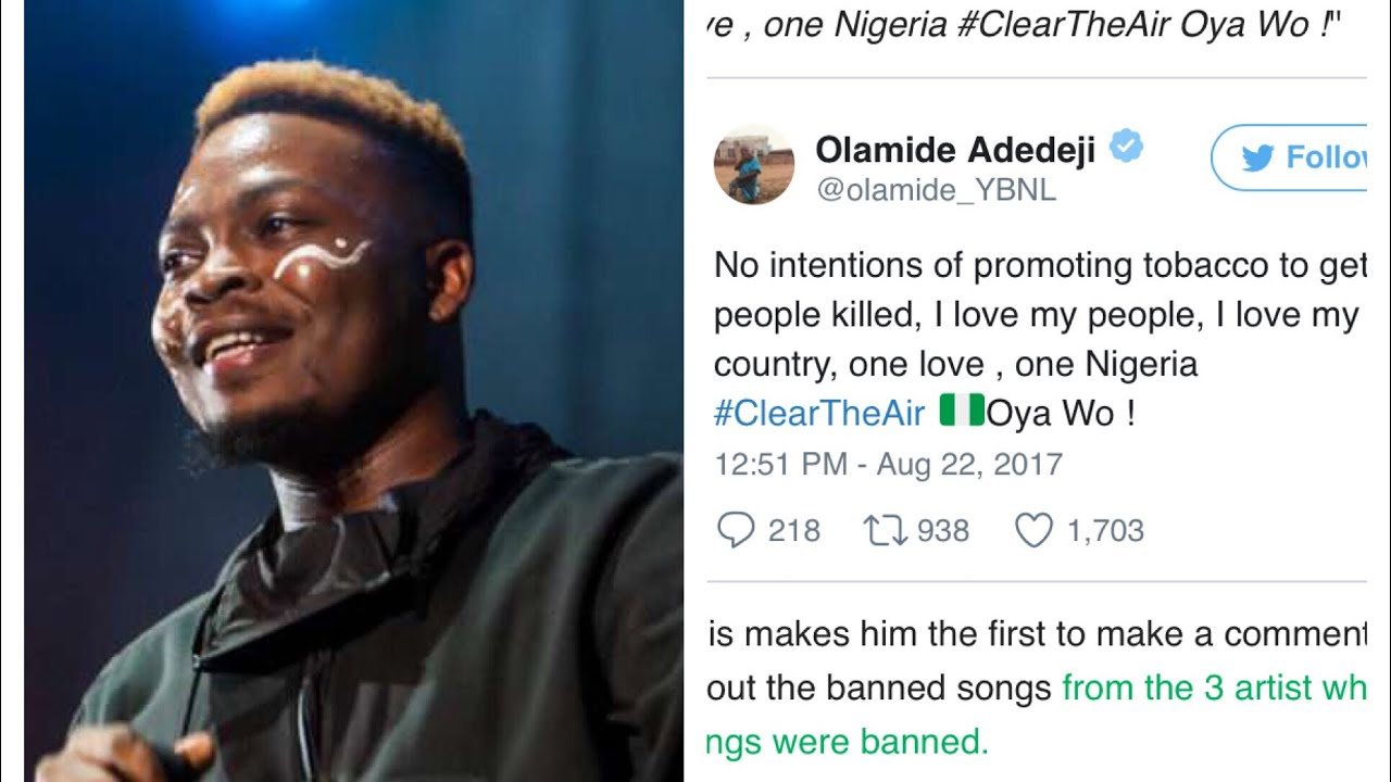 Image result for Olamide - Wo  banned
