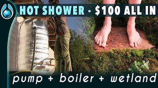 🛠️ Water tower =  tap + hot shower + hot water boiler