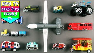 Special Vehicles For Kids Children Babies Toddlers | Plane Fire Engine Monster Truck | Kids TV
