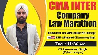 CMA INTER LAW MARATHON BY CS RAMANDEEP SINGH(CYBER LAWYER)