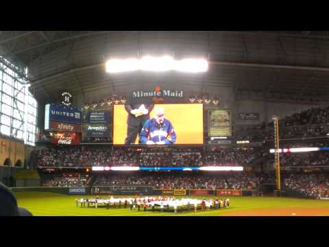 Houston Astros Season Opener 2013 Milo Hamilton Motivational Speach