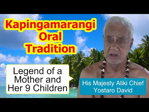 Legend of a mother and her nine children Kapingamarangi Atoll