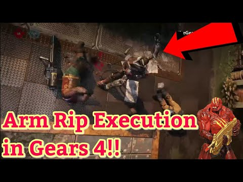 GEARS 4 CUT CONTENT!! Arm Rip Execution In Gears Of War 4