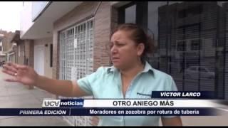 Trujillo: Se rompe tubería en Av. Manuel Seoane