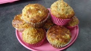 Healthy Snack Ideas: Banana Oat Muffins Recipe