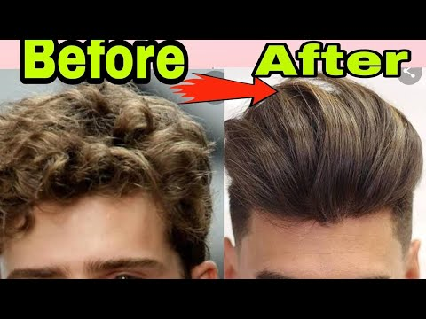 Hair Straighting For Men At Home Without Any Chemical |Hindi | Silky & Smooth Hair