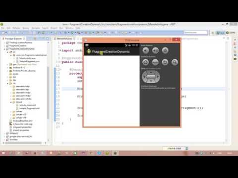 Android Fragments Tutorial Part-2 Creating Fragment Dynamically
