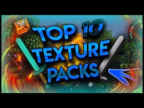 Minecraft  - Top Ten Texture Packs For 1.13 - 2019!