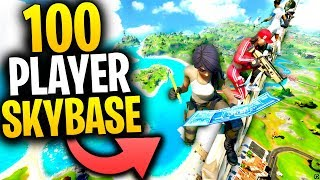 100 Player SKYBASE CHALLENGE In Fortnite!