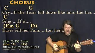 Let Her Cry (Hootie & The Blowfish) Guitar Cover Lesson with Chords/Lyrics - Munson