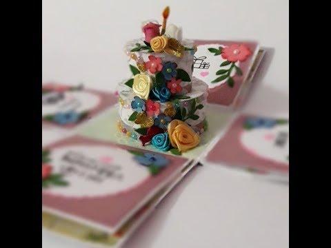 Birthday Explosion Box | cake Explosion Box | Surprize Box Ideas