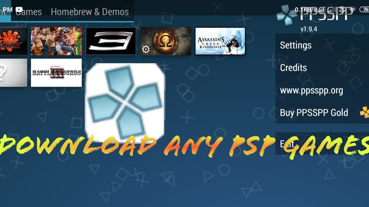 how to download free demos on psp